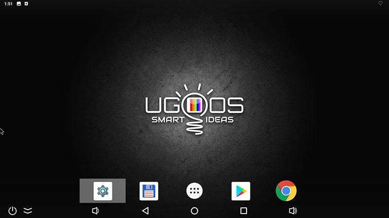открыть настройки Ugoos X3